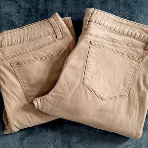 2 Pair No Boundaries Jean's, Tan Boot Cut 2 Pair
